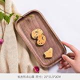 Cjupzi Platte Tablett Holz- Geschirr, Nußbaum, Ovale Hand, Dessert, Getrocknetes Obst, Platte, Rechteck