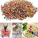 Combo ( Pack Of 1000+ Pcs Water Ball Aprrox ) Colorful Magic Crystal Water Jelly Balls Mud Soil Beads Water Ball Use Decoration Multicolour Ball With [ Free 1 Pcs Lord Ganesha Ideal / Murti Small Size 6 X 3 Cm Decoration Home ] (pack Of 1000 Pcs)