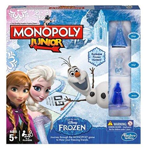 Kids Board Game Disney Frozen Edition Monopoly Junior Girls Boys Adventure Toy by Disney