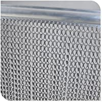 Reino Unido cortina de cadena de Store plateado aluminio Metal protector de Fly cortina persianas control de plagas de insectos (10años de garantía–90cm x 200cm
