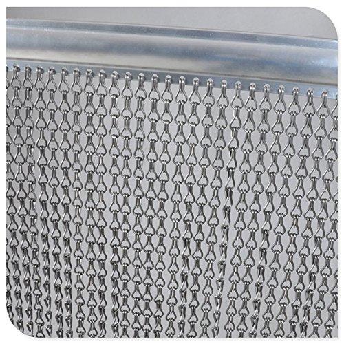 Remasuri Aluminium Metall Kette Vorhang Bildschirm Fly Insektenschutz-Rollos Pest Control Vorhang – 10 Jahre Garantie – 90 cm x 200 cm …