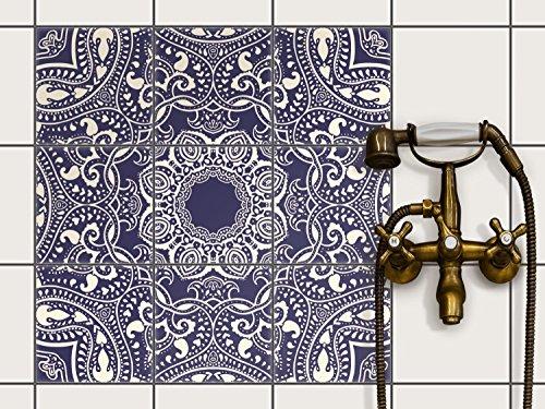 Fliesenfolie selbstklebend 20x20 cm 3x3 Design Blue Mandala (Grafik & Illustration) Klebefolie Küche Bad