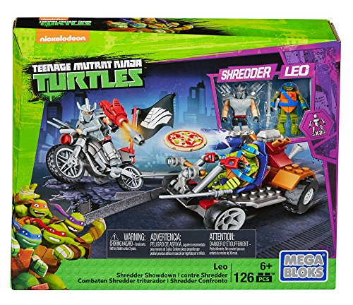 Mega Bloks Teenage Mutant Ninja Turtles Leo Shredder Showdown Construction ()