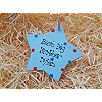 Sibling Gift Best Big Sister New Baby Gift Star Plaque