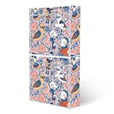 BANJADO Briefkastenanlage 2 fach | Stahl weiß mit 2 Briefkästen | Doppelbriefkasten 36x64x10cm | inklusive Namensschild | Wandmontage mit Motiv Lustige Freunde