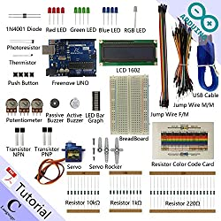 Freenove LCD 1602 Starter Kit for Arduino | Beginner Learning | UNO R3 Mega Nano Micro | 23 Projects, 117 Pages Detailed Tutorial