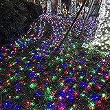 ROADP FROADP Wasserdichte Weihnachtsdekoration String Lichte 8 Modi Vorhang Lichter Beleuchtung Deko Weihnachten Halloween Hochzeit Party oder Stimmung Lichter (Bunt, 100m)