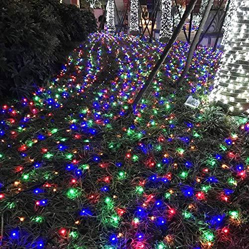 Froadp 100m LED Außen Lichterkette Weihnachtsbeleuchtung IP44 Wasserdichte 8 Modi Vorhang String Lichte Dekoration für Weihnachten Halloween Hochzeit Party oder Stimmung Lichter(Bunt)