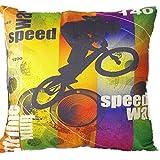 Home Style 45 x 45 cm, Baumwolle Bettwäsche Dekorative Kissenbezug, Tasche, Fahrrad