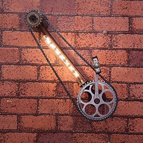 Nordamerikaner rückläufig; Persönliches Licht; Industrielle Dachboden Eisen Wand Terrasse Ristorante del Cambio Moto Wasserhähne (Energieeffizienzklasse A +)
