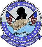 - Nr. 2044 - Premium Autoaufkleber Flugzeugträger USS GEORGE WASHINGTON Aufkleber/Sticker Grösse: 8 cm rund - Made in Germany - Sehr lange Haltbarkeit - Waschstrassen tauglich -