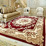 Unbekannt Teppich Europäischen Stil Einfache Verdickung 15 MM Home Cut Blume Teppich Wohnzimmer Schlafzimmer Nachttisch Couchtisch Teppich (größe : 133x190cm(52