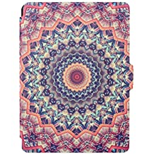 "Funda para Kindle 8th Generación, E-Book Style Por Totem, Asnlove Funda Piel Ultra Slim Cartera Carcasa PU Piel Sintética con Durable PC Rigida Protectora Flip Case Folio para Amazon All-New Kindle E-reader (6"" Display, 8th Generacón 2016), Mandala Rosa"