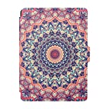 "Asnlove Funda para Kindle 8th Generación, E-Book Style por Totem, Piel Cartera Carcasa Protectora Flip Case Folio para Amazon All-New Kindle E-Reader (6"" Display, 8th Generacón 2016), Mandala Rosa"