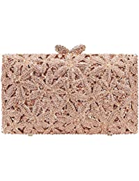 Bonjanvye Glitter Floral Sakura Purses and Handbags for Girls Wedding Party Dress Bag