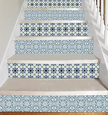 Wallpaper Strips (Moroccan Style) for Stair Risers/ Stair Steps -