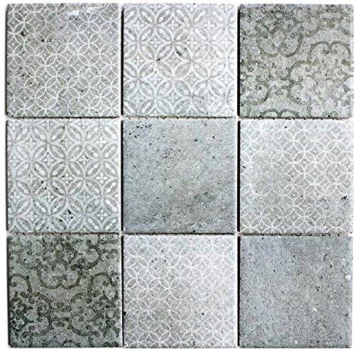 Fliese Keramik grau für WAND BAD WC DUSCHE KÜCHE FLIESENSPIEGEL THEKENVERKLEIDUNG BADEWANNENVERKLEIDUNG WB22-CELLO ()
