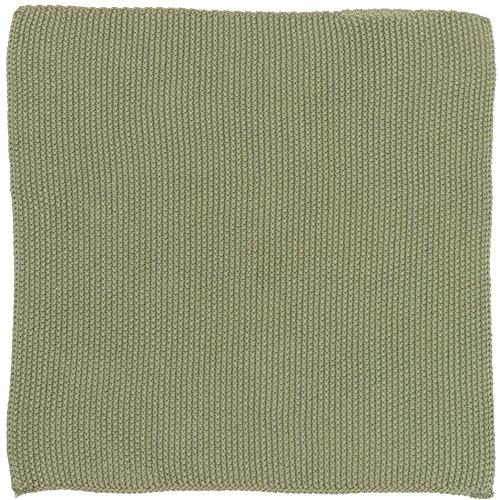IB Laursen Spüllappen Mynte Olive gestrickt Küchenhandtuch Handtuch grün Khaki Küchentuch Tuch Universaltuch Allzwecktuch Waschlappen Serviette