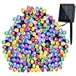 Coomatec 66ft 200 LED Solar Fairy String Lights For Outdoor, Garden, Patio, Christmas, Party Decoration(Multi Colour)