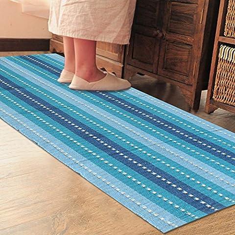 Esteras de la tela de algodón/Entrar en cocina/Dormitorios/WC/Alfombra absorbente de agua de baño en la puerta/Paso a paso cojín-E 60x130cm(24x51inch)