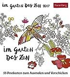 Im Garten des Zen - Kalender 2017: 53 Postkarten zum Ausmalen und Verschicken