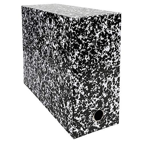 Exacompta 89826E Archivbox (Rücken 120mm, kaschierter Karton, DIN A4 Maxi) 1 Stück weiß