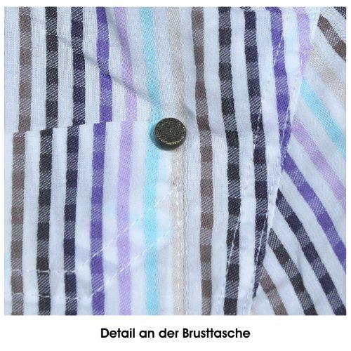 Olsen, langarm Bluse, 702270914-73006 Urban Safari, weiss bunt gestreift [13632] Weiß