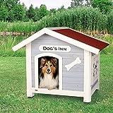 Trixie | natura Hundehütte Dog's Inn mit Satteldach hellblau/weiß | L 107 x B 93 x H 90 cm - 4