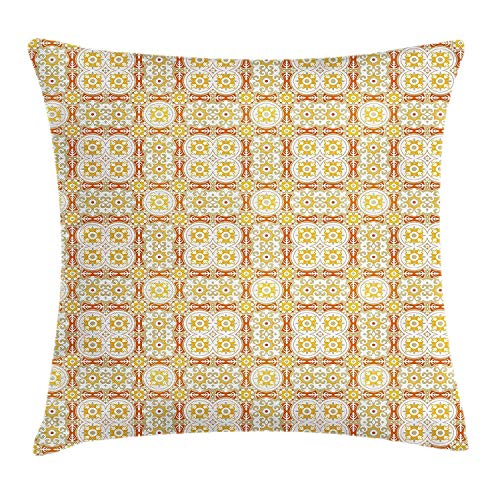 Kopfkissenbezüge Fashion Throw Pillow Cushion Cover, Woman Leg with Pink High Heel Shoe Checkered Pattern Stocking and Shopping Bags, Decorative Square Accent Pillow Case, 18 X 18 inches, Multicolor