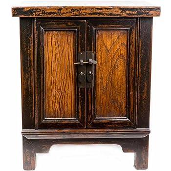 Fine Asianliving Table de Chevet Chinois Meubles Petite Table de Nuit  Marron foncé Vintage Oriental Asiatique Salon Chambre à Coucher Meubles  Décor ... 995766783c40