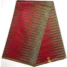 Wax pagne tissu africain collection ORIGINAL HITARGET 6 YARDS Super cire imprimé top qualité matière glissante type JAVA réf AF