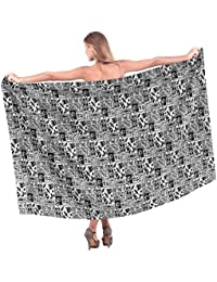 La Leela Womens Lightweight Cotton Water Surf Wavy Swimwear Bikini Skirt Cover up Sarong