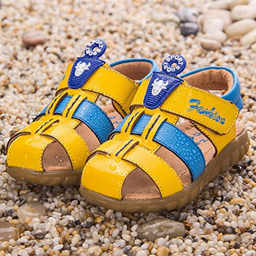 Scarpe Estive Per Bambini - Sandali A Punta Chiusa Bambina Con Plantare Giallo Blu