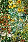 1art1 118784 Gustav Klimt - Bauerngarten Mit Sonnenblumen, 1905-06 XXL Poster 120 x 80 cm