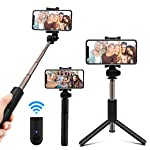 Hoteon Mobilife Bluetooth Extendable Selfie Stick with Wireless Remote and Tripod Stand Selfie Stick for iPhone X/iPhone...