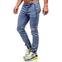 BOLF Uomo Pantaloni Jeans Jogger Denim Coulisse Elasticizzati Tempo Libero Gamba Stretta Slim Fit Casual Style [6F6]