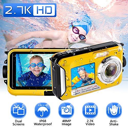 Macchina Fotografica Subacquea 2.7K Full HD Fotocamera Subacquea Digitale 48.0 MP...