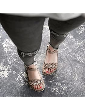 SDKIR-Torta di spessore Roma sandali, studentesse estate selvatica velcro calzature donna ,36, grigio