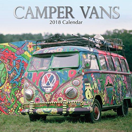 2018Camper Vans Wandkalender auf Englisch 30 cm x 30cm – mit 210 Kalender Stickern (Blätter Mit Camper Auf Sie)