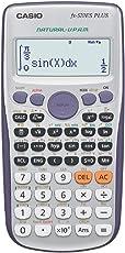 Casio fx-570es Plus–Taschenrechner Desktop-, Akku, Display Calculator, grau, silber, Knöpfe, dot-matrix)