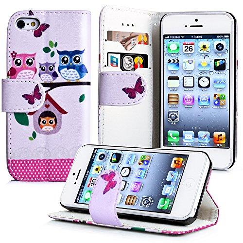 Apple iPhone 5 / 5s Handyhülle inklusive Displayfolie England Eulenhaus