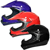 /& Goggles /& Gloves M 51-52cm M 6cm L 9-10Yrs Kids CAMO Motocross 1PC Suit Leopard LEO-X15 Matt Blue Kids Motocross Motorbike Helmet