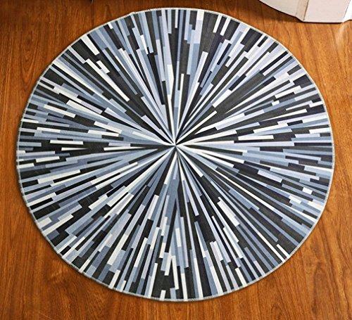 8 Gewebten Teppich (ZHDC® Teppich, runder Teppich Nordic modern Einfaches Schlafzimmer Wohnzimmer Nachttisch Teppich Eingang Basket Studie Computer Stuhl Drehstuhl Pad Weich und bequem ( größe : 80*80cm ))