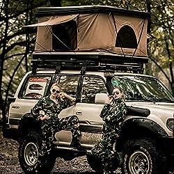 YXXHM- Dachzelt Camping ABS Auto Zelt, Hard Top Zelt EIN Schlafzimmer hydraulischer Hubschrauber