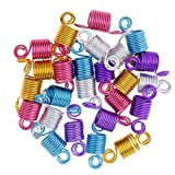 Sharplace 80 Pezzi Capelli Dreadlock Clip In Lega Accessorio DIY Fermaglio Charm