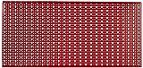 Sipa 5/578Panneau perforé en tôle vernie, 1000x 500 mm, Rrouge