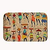 """rioengnakg Tribal africain Femme Tapis de bain Corail en polaire Zone Tapis de porte d'entrée Tapis Tapis Tapis de sol pour l'extérieur avant de portes d'entrée Tapis, 20"""" x 32""""(50 x 80cm)"""