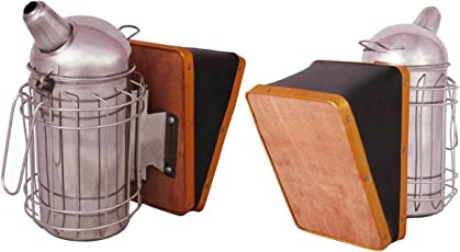 Hi-Tech Natural Products Bee Hive Smoker Stainless Steel W/ Heat Shield Beekeeping Tool