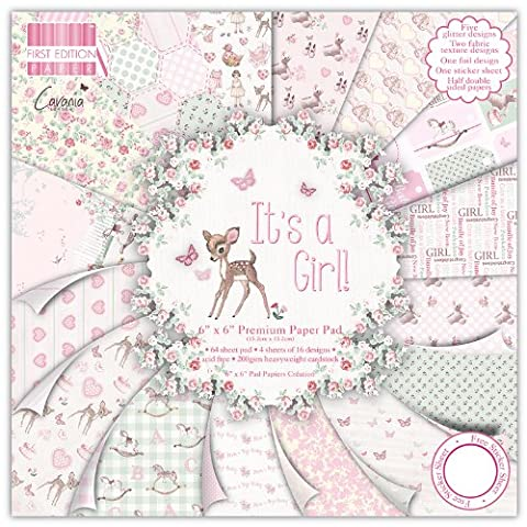 First Edition It's a Girl Premium Paper Pad 6