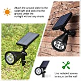 Led Solar Spotlights Outdoor, Mpow 2-in-1 Multi Use Solar Powered Outdoor Wall Security Light / Waterproof Solar Spotlight Landscape Lighting Security Lights 180°angle Adjustable, Auto On/Off for Garden, Outdoor, Lawn, Backyards, Outside Wall etc Bild 1